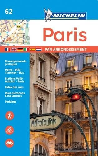 Paris Street Map - Michelin Paris by Arrondissements Pocket Atlas #62 (Michelin Map & Guide Series)