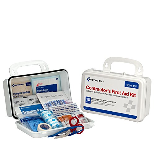 First Aid Only 96 Piece Bulk Contractors Kit Plastic Case with Gasket, 1.05 Pound