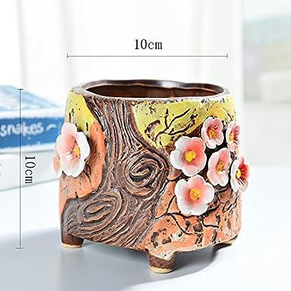 Yqooo Desktop Piante Succulente Ceramica Vasi Da Fiori Grandi Medie