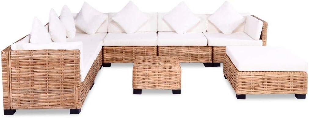mewmewcat - Juego de 9 Muebles de jardín con Cojines para jardín: Amazon.es: Hogar