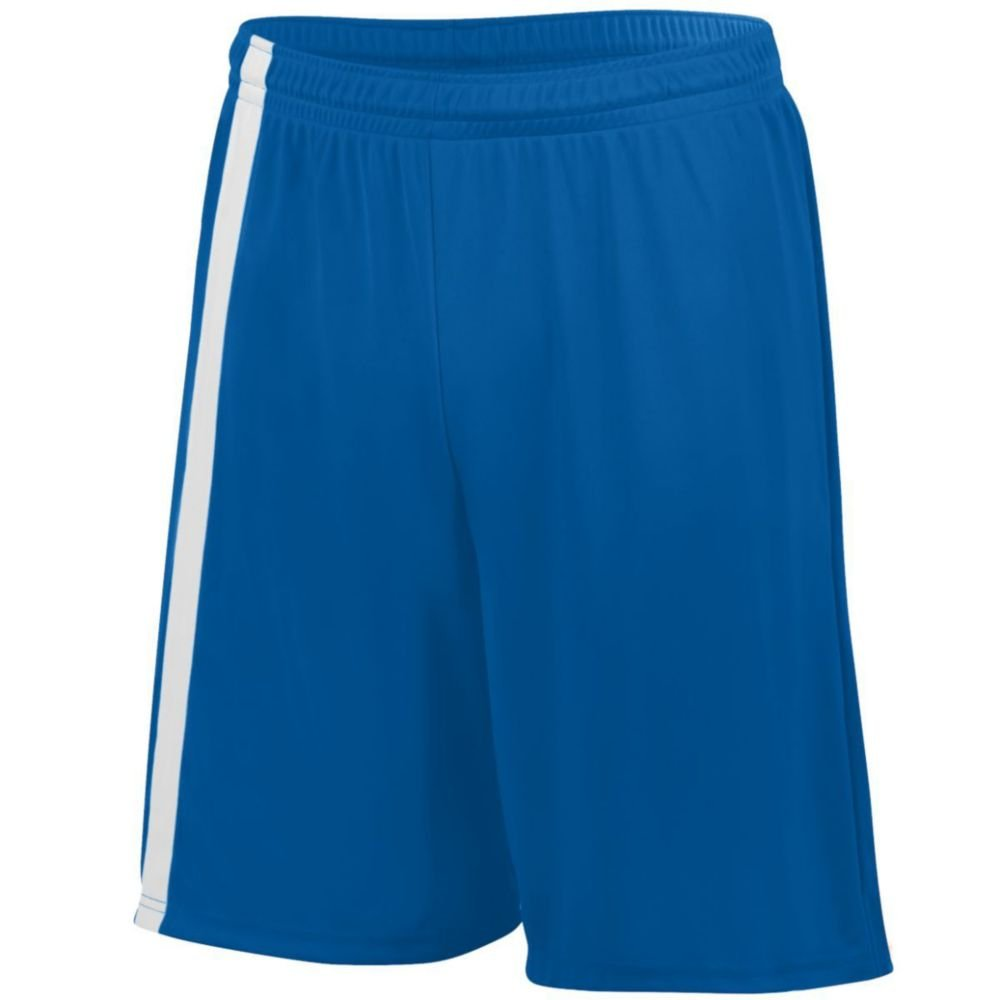 Augusta Activewear Attacking Third Short - Youth, Royal/White, Medium by Augusta Activewear