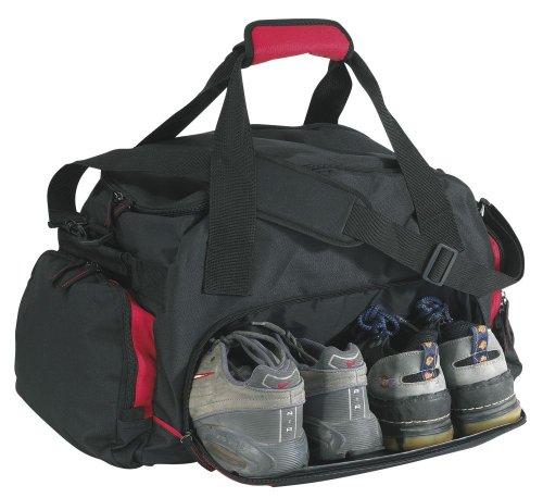 Sporttasche schwarz blau 60x36x26cm Schuhfach Reisetasche