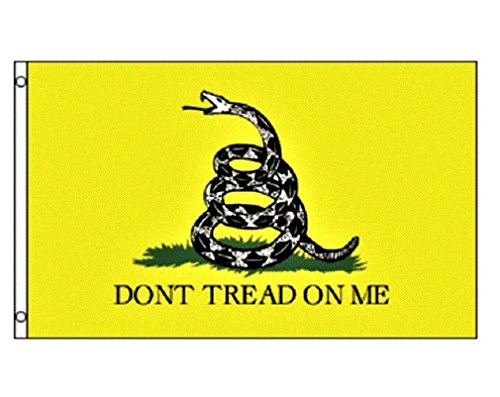 (Don't Tread On Me Yellow (Gadsden) 3x5 Feet Printed Flag with Grommets by TrendyLuz Flags )