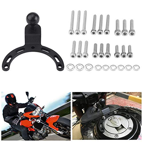 Motorcycle Tank Mount Kit,Adjustable Gas Tank Cap Mount Camera GPS Phone Bracket Holder with Bolts and Washer for Kawasaki Honda BMW