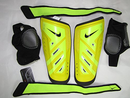 NIKE Protegga Shield adjustable shin guard (yellow adult size, XS) removable ankle support (Protegga Shield)