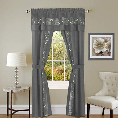 Achim Home Furnishings Fairfield 5 Piece Window Curtain Set, 55
