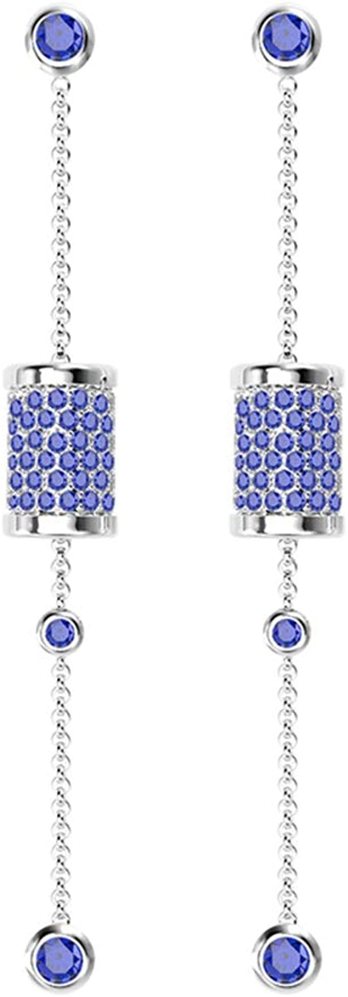 SKA Jewelry Love Heart Earrings Studs for Women Cubic Zirconia Drop Dangle Earrings Fashion Ear Studs