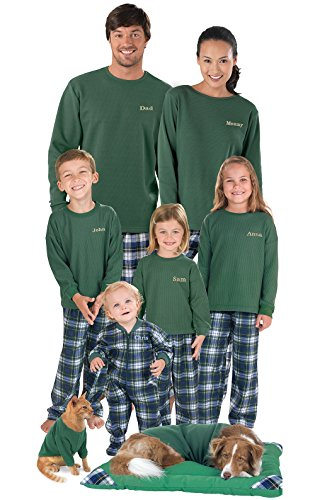 PajamaGram Flannel Tartan Plaid Matching Family Pajama Set, Women's 1X / 16-18, Multicoloured