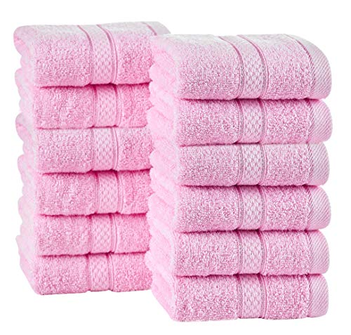 ixirhome Turkish Washcloths Towel Set 24 Piece, Machine Washable, Hotel Quality, Soft and Highly Absorbent (Mint-Cream-Powder) by ixirhome (Image #4)