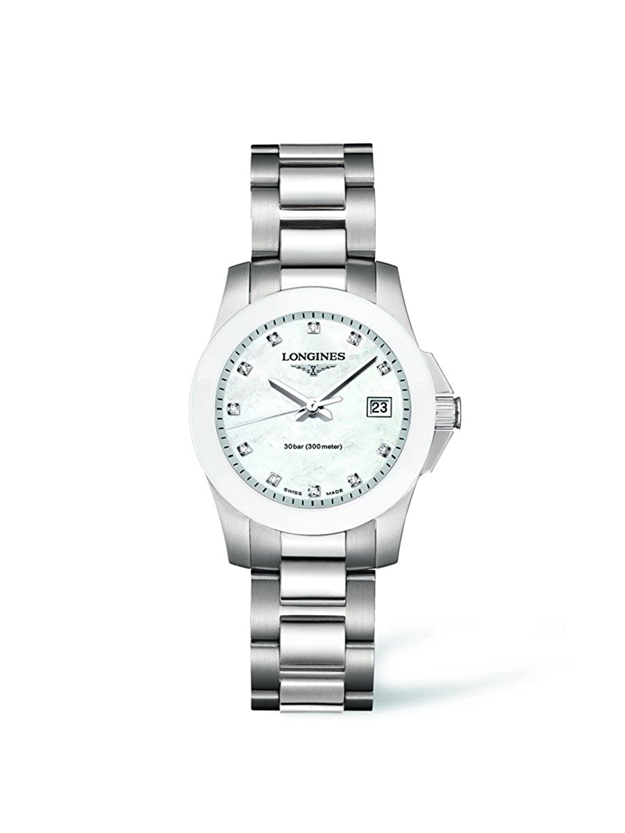 Longines Conquest Diamond Mother of Pearl Dial Stainless Steel Ladies Watch L3.257.4.87.6