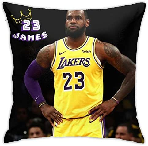 Amazon Com Yrty King James 23 Los Angeles Soft Square Decorative Cushion Cover Pillowcase With Hidden Zipper Pillow 18inch18inch Home Kitchen