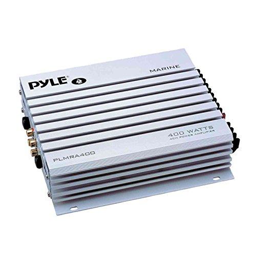 PYLE PLRMR27BTB Marine Bluetooth Receiver Stereo(Black) w/Pyle 3.5'' 200W 3-Way Weather Proof Mini Box Speakers(3-Pairs), Pyle 4-Chan 400W WP Marine Amp, Enrock Marine Antenna & 50' 16G Speaker Wire by PyleMarineBundle (Image #3)