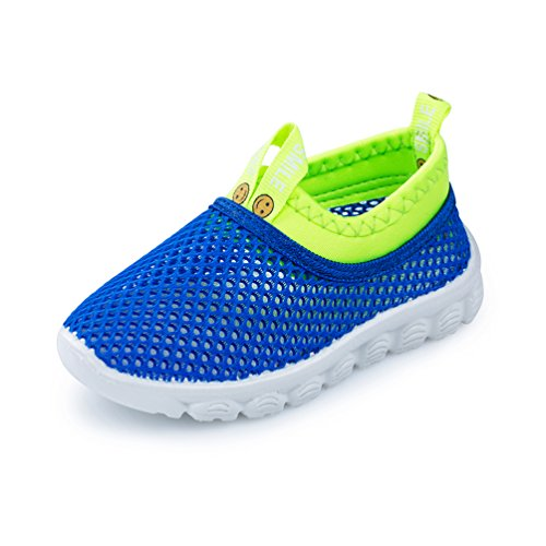 Image of KEVENI Little Kids Breathable Mesh Lightweight Aqua Water Shoes Boys Girls Sneakers for Walking Running Pool Beach