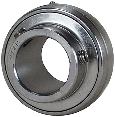 "PEER FHS205-16 Spherical Ball Bearing Insert Set Screw Locking 1/"" Bore"