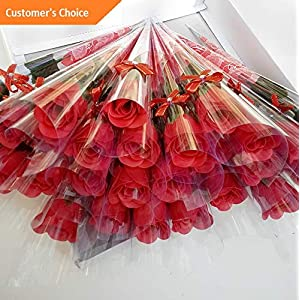 Hebel 10 Pcs Single Stem Artificial Rose Soap Made Flowers Decoration Gift Model ARTFCL - 661 | 81