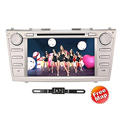 "TOCADO In-Dash DVD Receiver with 8"" Display Double Din Android 6.0 Car DVD Player Bluetooth GPS Navigation Radio Special for Toyota Camry 2007 2008 2009 2010 2011 + Car Rear View Camera"
