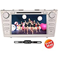 TOCADO In-Dash DVD Receiver with 8 Display Double Din Android 6.0 Car DVD Player Bluetooth GPS Navigation Radio Special for Toyota Camry 2007 2008 2009 2010 2011 + Car Rear View Camera