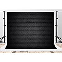 Kate 7x5ft Black Brick Wall Photography Backdrops Vintage for Portrait Background Shooting