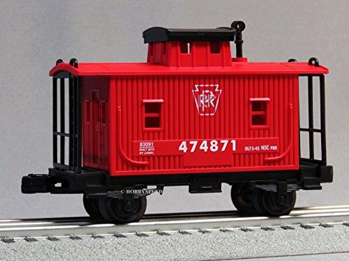 LIONEL JUNCTION PRR BOBBER CABOOSE O GAUGE train red wooden side 6-82972 C Lionel Wooden Trains