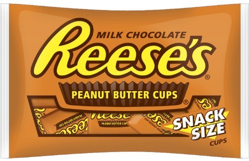 (REESE'S Peanut Butter Cups, Milk Chocolate, Snack Size (Pack of 2 Pounds))