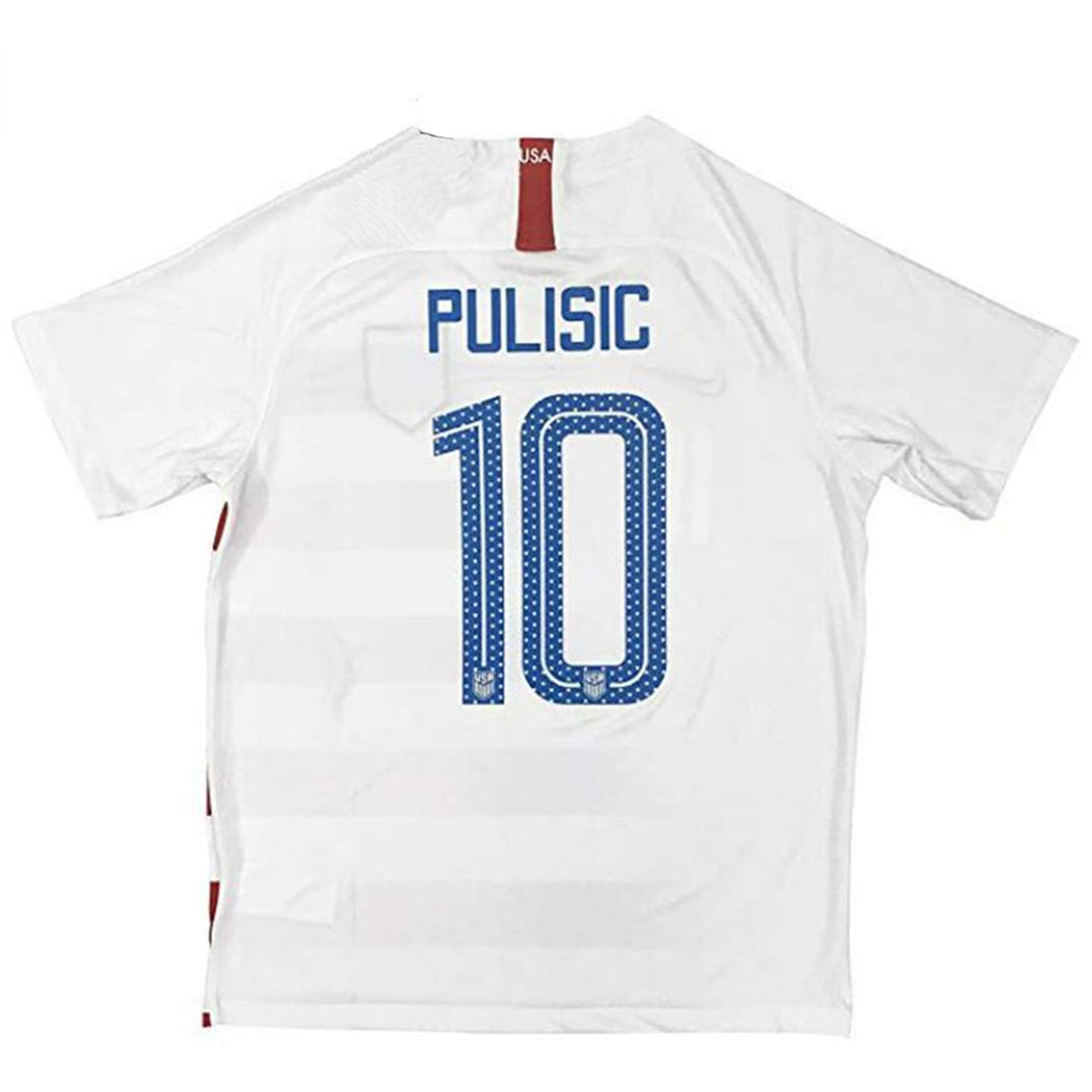 56d9c1f9de8 City surfers New  10 USA Soccer Pulisic 2018 2019 Men s Home Jersey