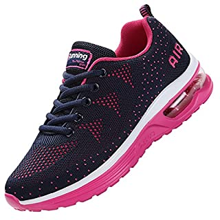 MEHOTO Womens Fashion Lightweight Tennis Walking Shoes Sport Air Fitness Gym Jogging Running Sneakers (VioletBlue US 8.5 B(M)