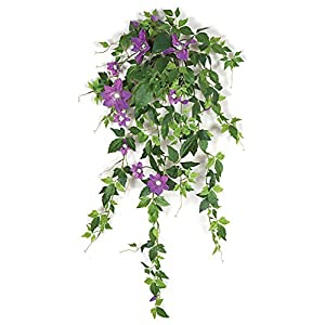 Artificial Clematis Vine w/ Lavender Flowers - 28 inches 11