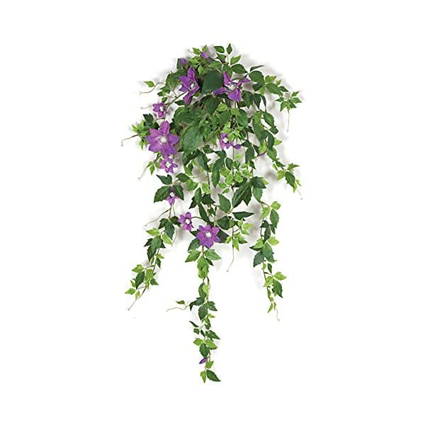Artificial Clematis Vine w/ Lavender Flowers – 28 inches