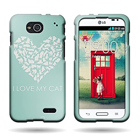 CoverON Slim Hard Case for LG Optimus L90 D415 with Cover Removal Tool - (I Love My Cat) (Lg Optimus L90 Cat Case)