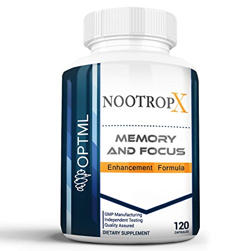 NootropX Advanced Nootropic Brain Supplement | Clinically Effective Doses | Memory and Focus Enhancement Formula | Alpha GPC | Ginkgo | Ginseng | DMAE | Theanine | Huperzine A | ALCAR (120 Caps) Advanced Memory Formula