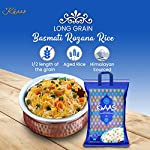 INDIA KHAAS Low G.I Half Length of The Grain Long Basmati Rozana Non-Sticky No Gluten Rice Pack (5 Kg)