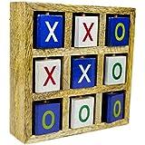 Nagina International Playful Functional Wood Crafted Portable Tic Tac Toe Floor Board Games | Kid's Toys & Games