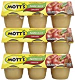 Mott's Cinnamon Apple Sauce, 4 oz, 6 ct, 3 pk