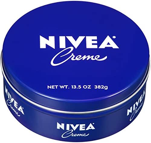 NIVEA Crème - Unisex All Purpose Moisturizing Cream for Body, Face and Hand Care - 13.5 oz. Tin Jar