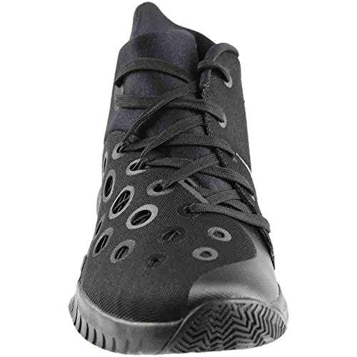 Nike Mens Zoom Hyperquickness 2015 Scarpa Da Basket Nero / Argento Metallizzato Dimensioni 10,5 M Us