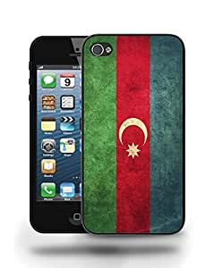 Azerbaijan National Vintage Flag Phone Case Cover Designs for iPhone 4