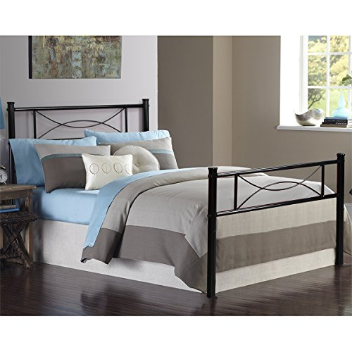 Bed Frame Twin Size, Yanni Easy Set-up Premium Metal Platform Mattress Foundation / Box Spring Replacement with Headboard and Footboard, Enhanced Sturdy Slats(Black) (Platform Sets Bed Comforter)