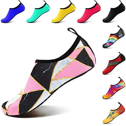 À Hommes Marbre Chaussures Vifuur Sport Rapide Femmes Nautique on Séchage Aqua Chaussettes De Enfants Pieds Nus Slip Épissure Yoga Pour 1UqYZf