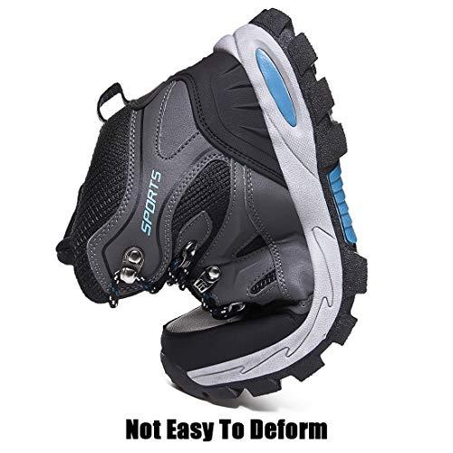 Rokiemen Chaussures de Randonnée Hautes Homme Antidérapantes Extérieure Imperméable Bottes de Marche Trekking Escalade… 5
