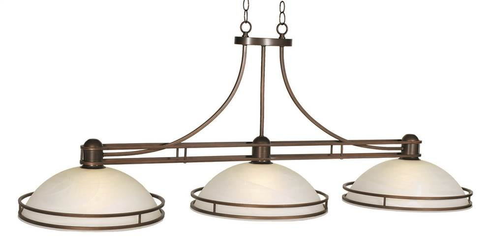 Cosmopolitan 3-Light Billiard Fixture in Bronze Finish