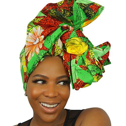 Urban Turbanista Head Wrap -African Wax Print Headwrap Scarf - Boo KAE