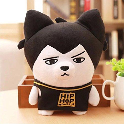 Kpop BTS Bangtan Boys Funny HipHop Monster Character Cute Cartoon Plush Doll Toy, 9 Inch (H03)