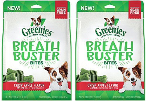 (2 Pack) Greenies Breath Buster Bites Crisp Apple Flavor Natural Dog Treats for Bad Breath (Flavor Crisps)
