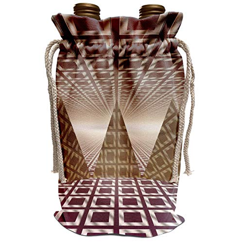 (3dRose Perkins Designs Cities And Structures - Pyramids three dimensional digital art of tiled series of triangular pyramids - Wine Bag (wbg_19939_1))