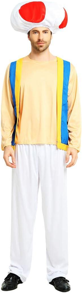 thematys Super Mario Toad Gorra + Pantalones + Camiseta - Disfraz ...
