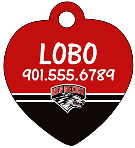 New Mexico Lobos Personalized Dog Tag Cat Tag Pet Id Tag w/ Your Pet's Name and Number
