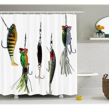 Amazon.com: Fish on Hooks Fishing Lure Rods Fisherman Gifts ...