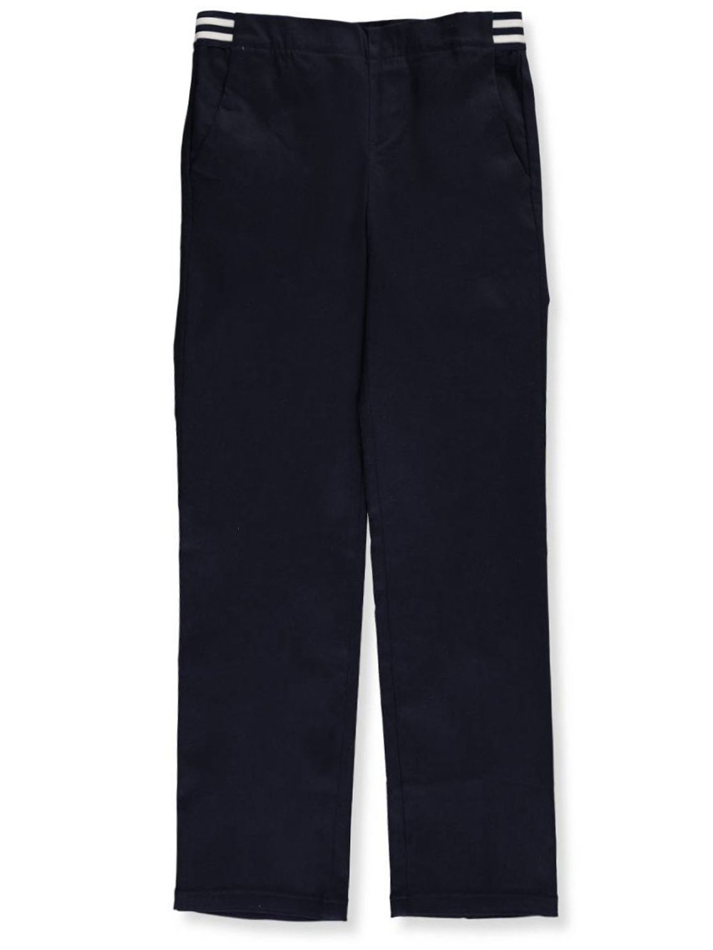 French Toast Girls Plus Size' Stretch Contrast Elastic Waist Pull-on Pant, Navy, 16.5