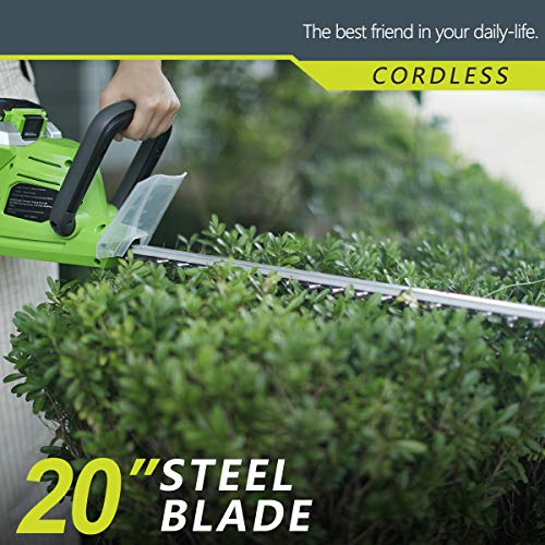 Best Partner 40-Volt High Cordless Trimmer,20-Inch,2.0AH and Charger Include
