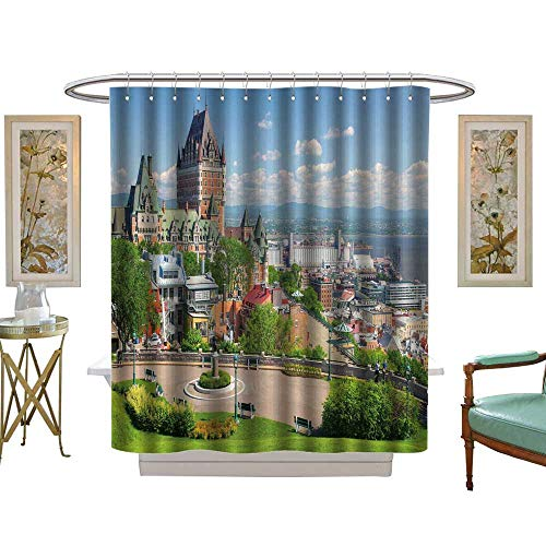 luvoluxhome Shower Curtain Collection by Chateau Frontenac in The Old Quebec City W48 x L72 Custom Made Shower Curtain ()